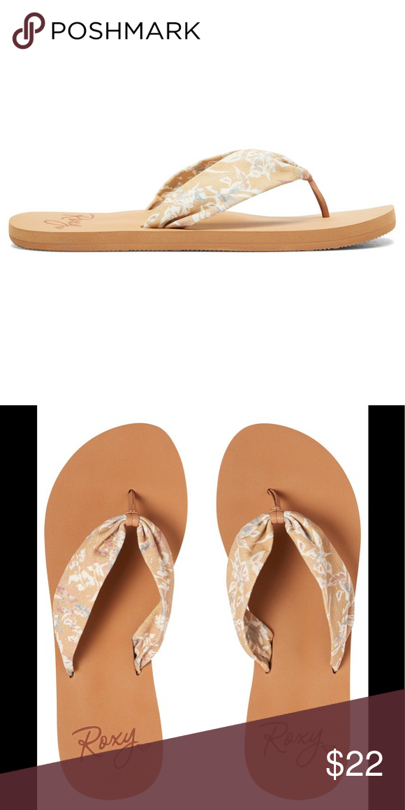 4fc75e70889 ROXY PAIA Flip Flops Sandals 6 NEW ARJL100674 Brand new with tags and from  a smoke