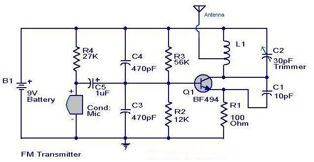 Simplest  U202a  U200efmtransmitter U202c Circuit Is A Device That Transmits Incoming Signals On The Fm Band