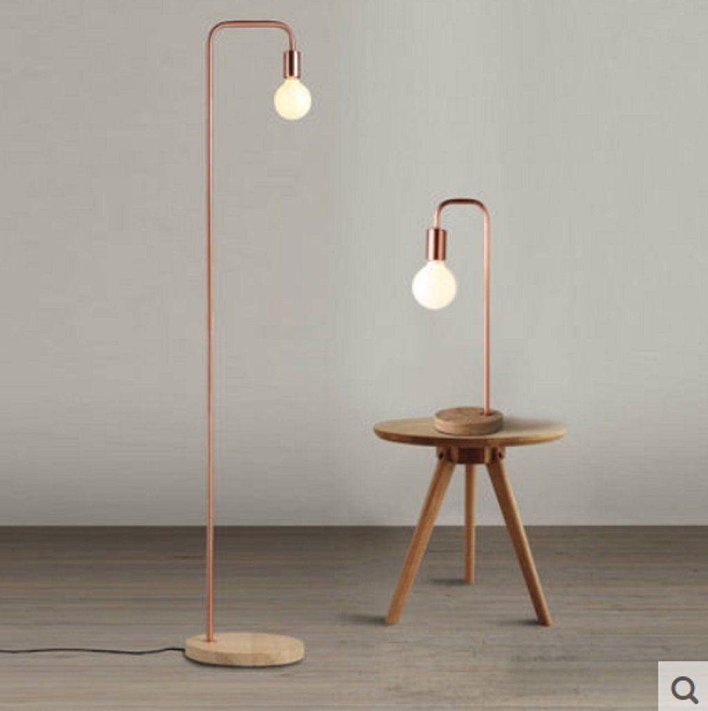 Nordic Eisenholz vertikale Stehlampe Wohnzimmer ...