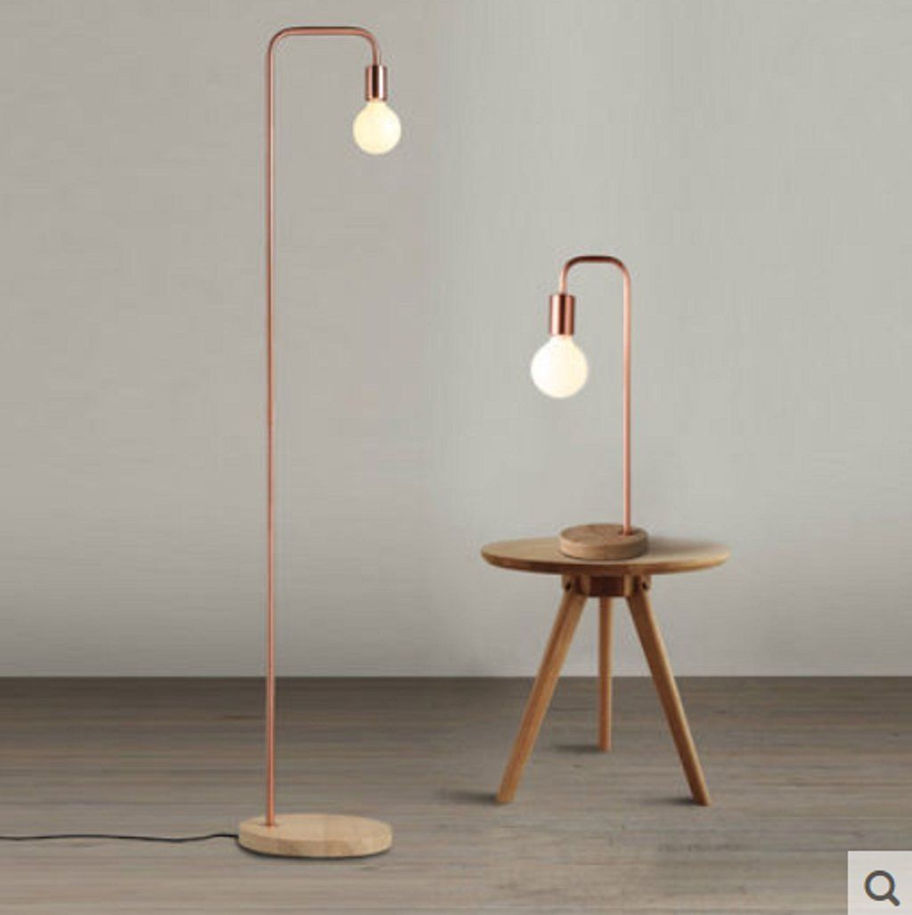 Nordic eisenholz vertikale stehlampe wohnzimmer for Stehlampe wohnzimmer modern