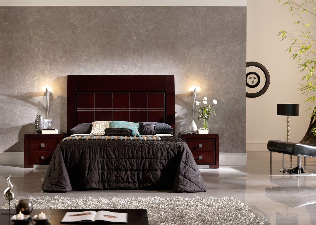 Dormitorio de creaciones ss en color wengue con detalles for Dormitorio wengue y plata