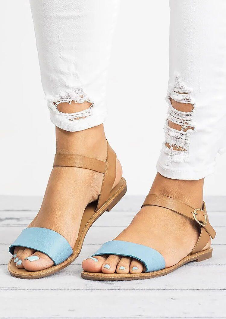 Summer Ankle Strap Flat Sandals - Light