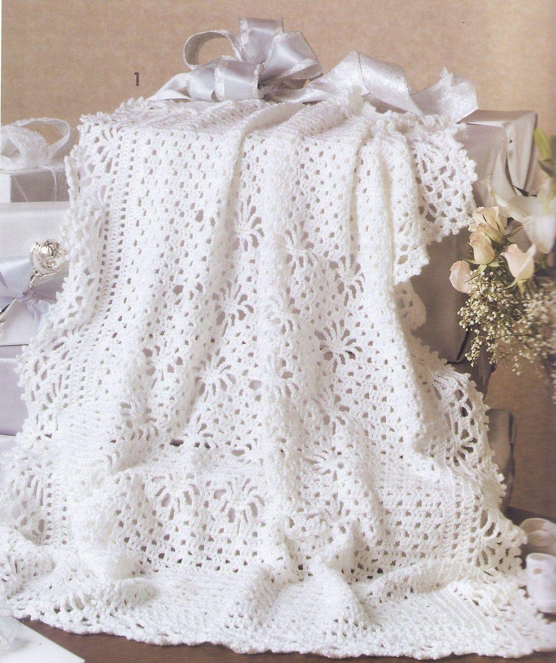Keepsake Baby Afghans Crochet Patterns Book 7 Designs Christening ...