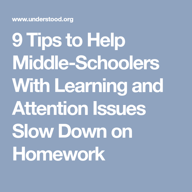 Homework help for middle schoolers