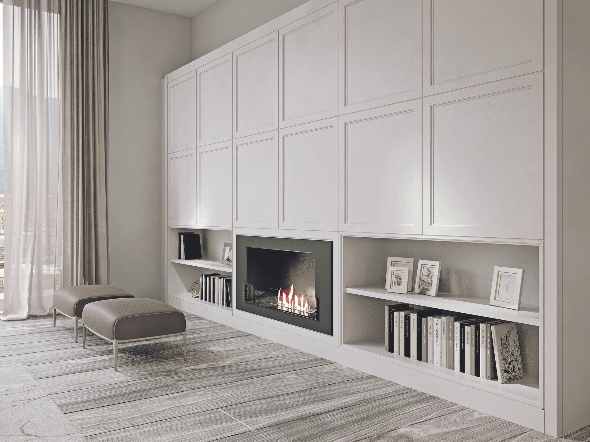 Wooden TV wall system AETERNA Argilla by L\'Origine Home Elegans ...