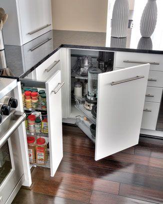 Sleek Spare Home Design Magazine Kitchen Pullout White Contemporary Kitchen Kitchen Cabinet Design