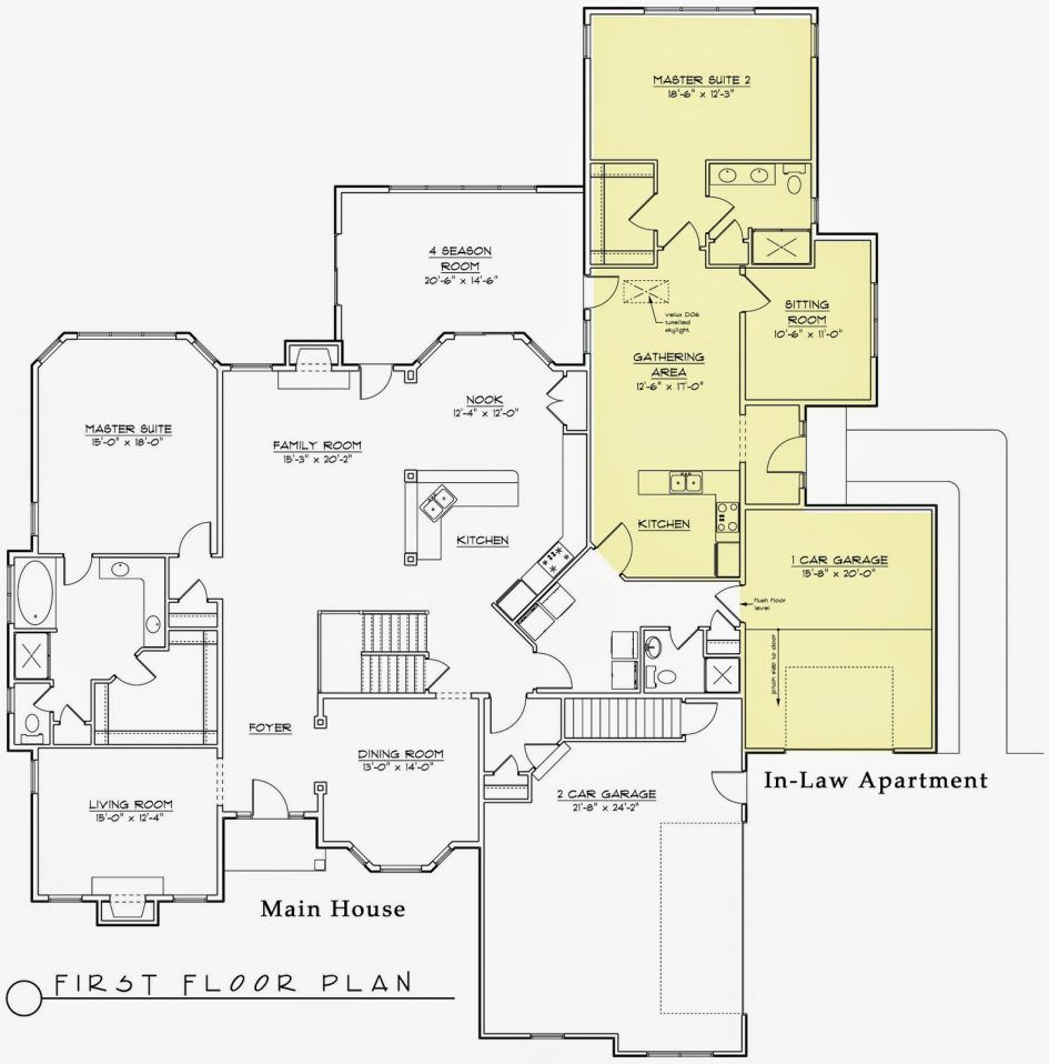Apartments Modern House Plans Inlaw Suite Floor Detached Mother In