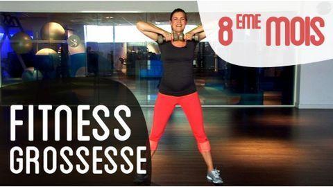 Fitness 3eme mois de grossesse   fitness femme enceinte en vidéo. Séance de  fitness pour le troisième mois de grossesse avec exercices pour renforcer  ... a3a31c9c106