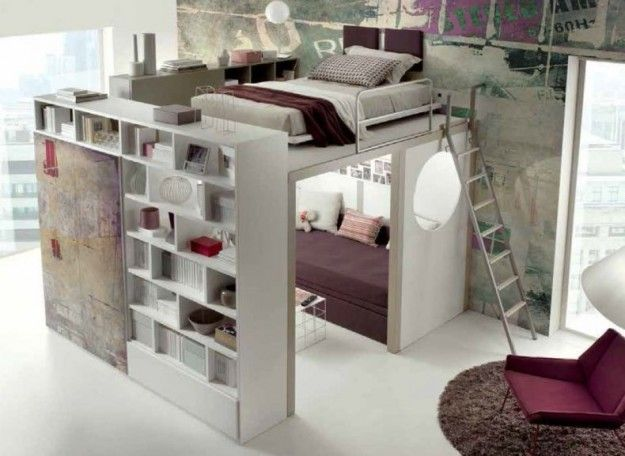 Letto a soppalco con scaletta bedroom ideas pinterest for Soppalco ikea legno