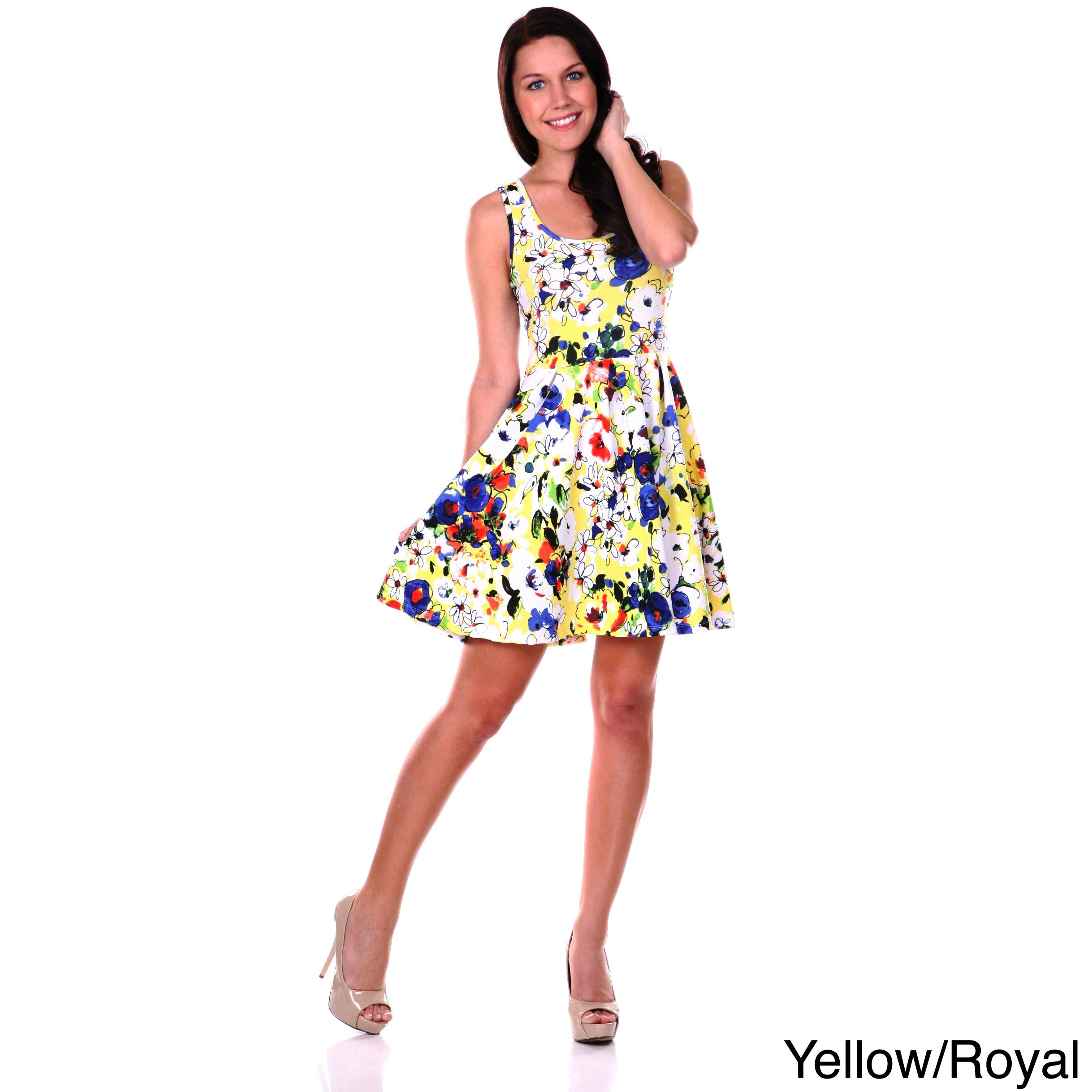A little flirty and totally chic this womenus fitandflare dress