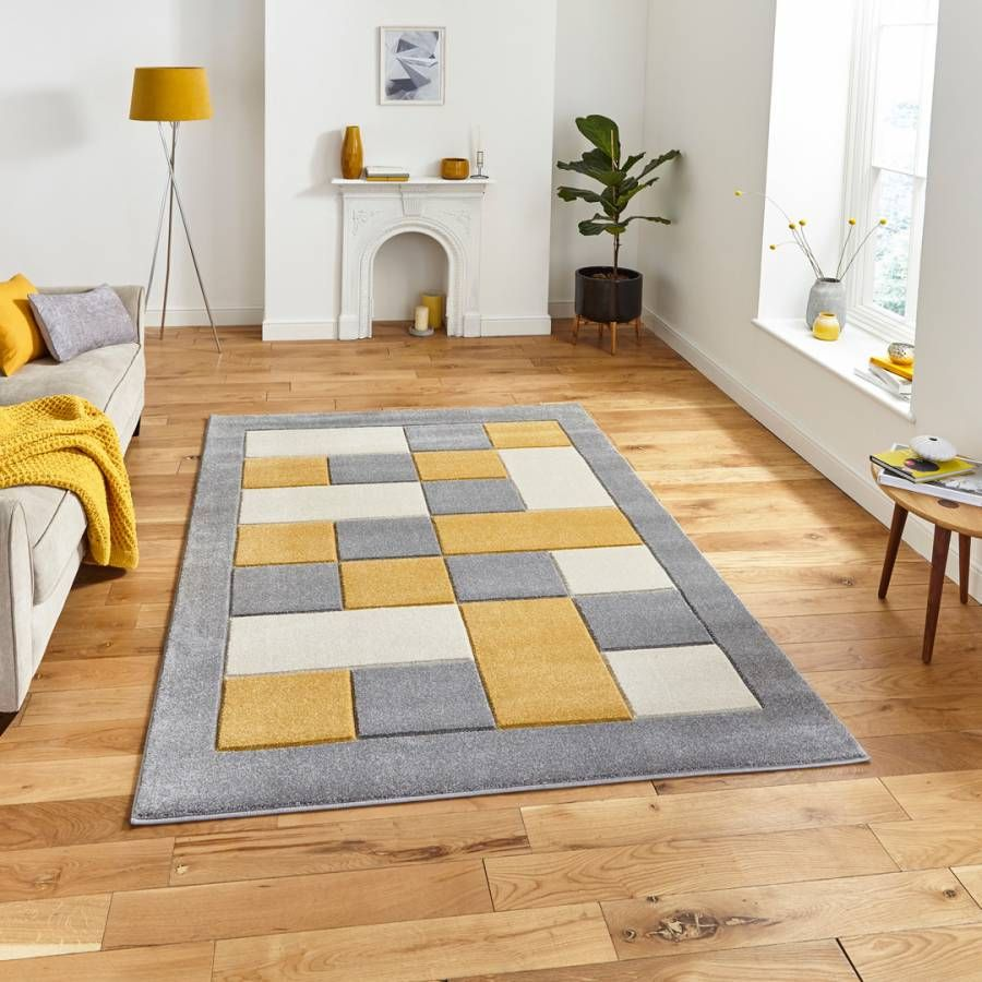 This rug combines style with easy clean practicality