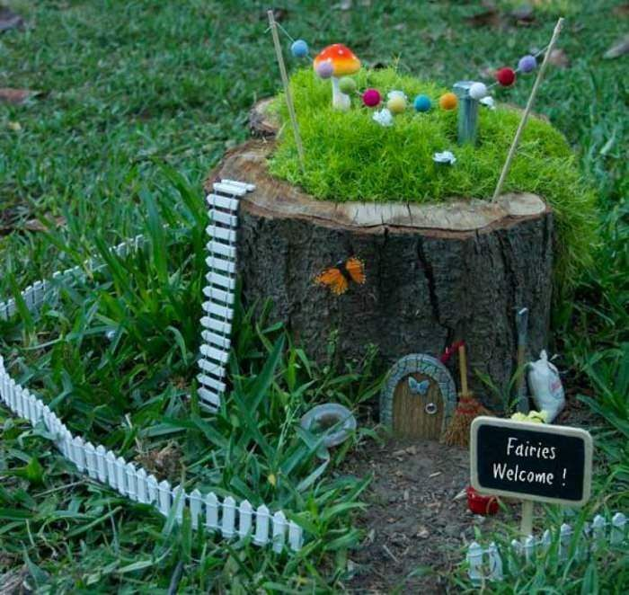 Fairy Garden Ideas For Kids magical fairy garden ideas you & your kids will love | tree stump