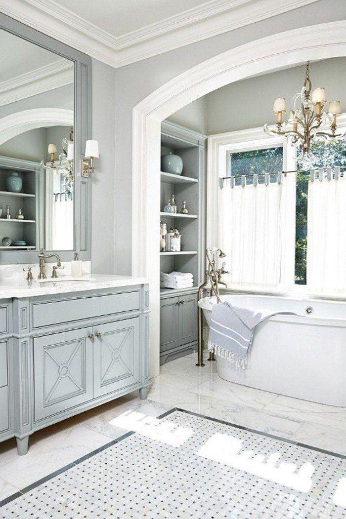 Badezimmer Gestalten Ideen Mit Weisen Vorhangen