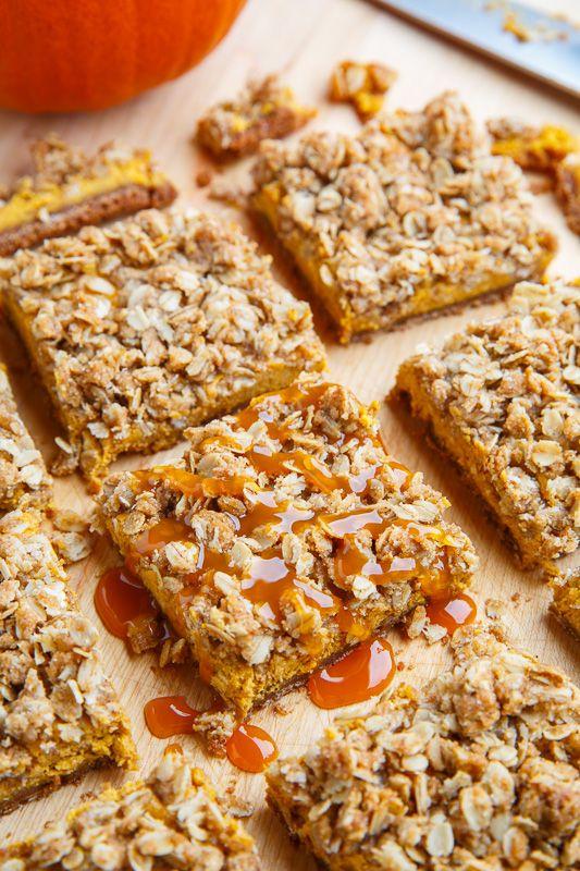 Pumpkin Cheesecake Gingersnap Streusel Bars | Recipe ...
