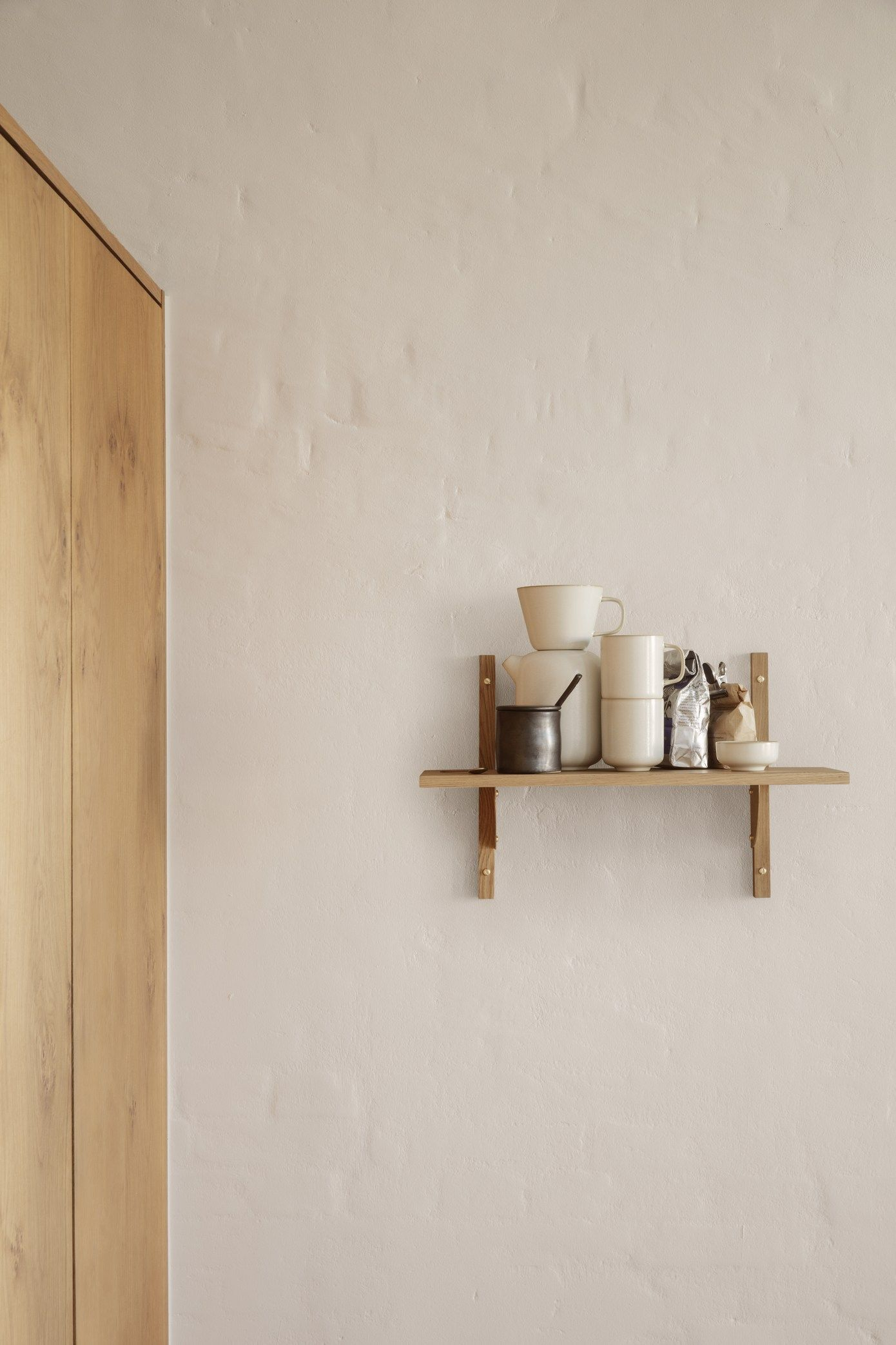 Embracing The Beige Interior Trend With Ferm Living Ss20 Collection Small Wooden Shelf Solid Oak Table Interior