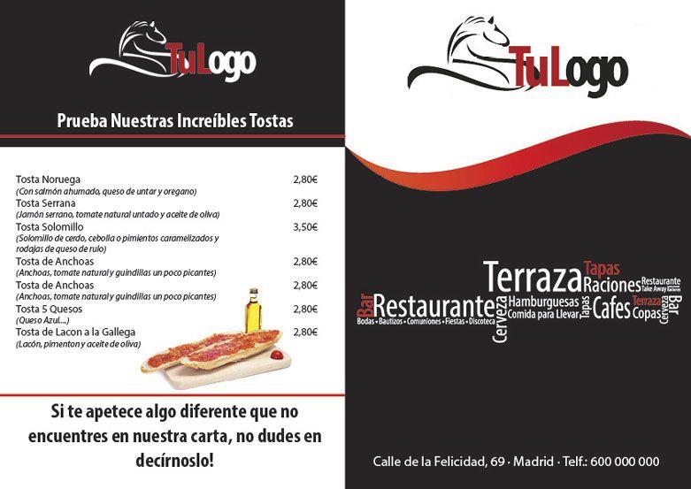 plantilla para descargar carta menu restaurante | Carta restaurante ...