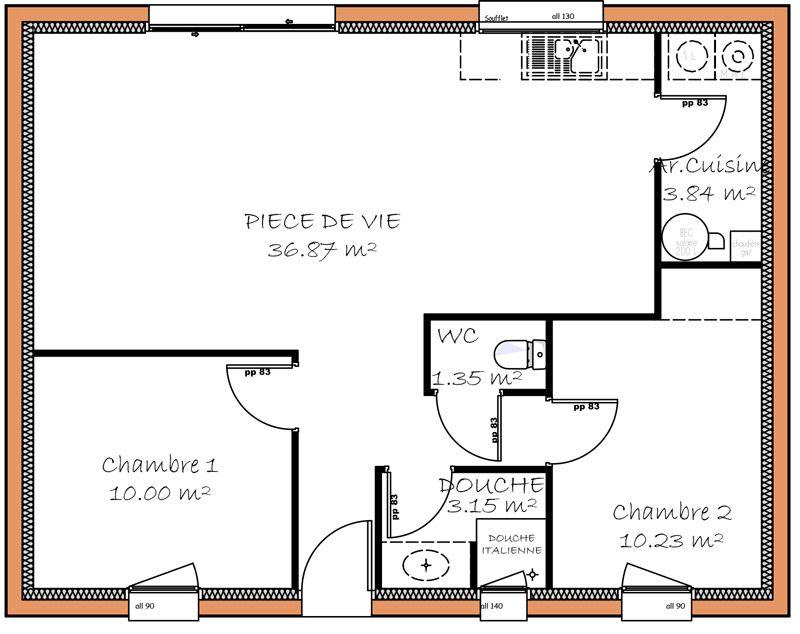 """Bien-aimé Résultat de recherche d'images pour """"plan de petite maison avec 2  CM21"""