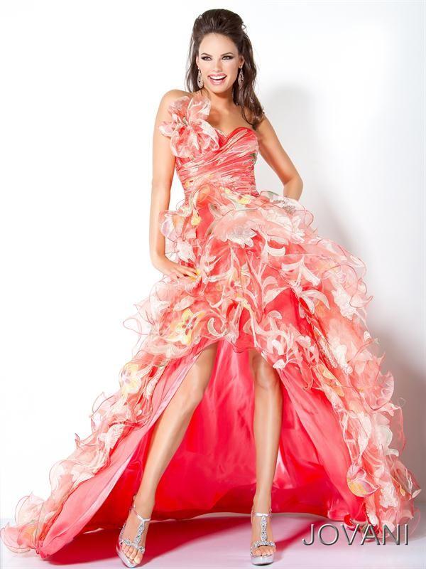 Vestidos de Fiesta diseñados por Jovani coral largo | Vestidos ...