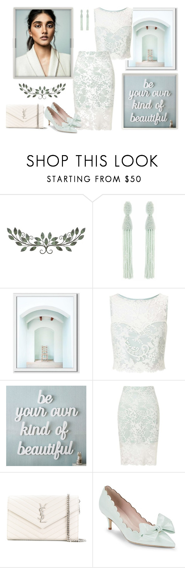 """Untitled #1700"" by jothomas ❤ liked on Polyvore featuring Oscar de la Renta, West Elm, Miss Selfridge, PBteen, Yves Saint Laurent and Kate Spade"