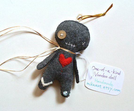 Halloween Decor Voodoo Doll Ornament One of a Kind Creepy Doll