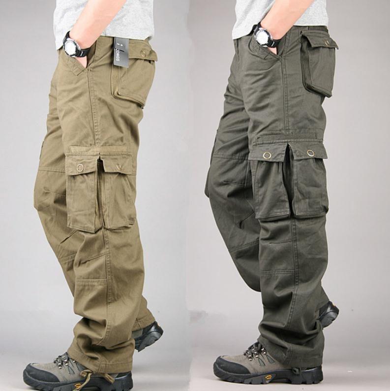 57026bdb36 Calças New Marca Mens Militar de carga para homens Mais Pockets Zipper  Calças Ao Ar Livre Roupa Big Size 30-40
