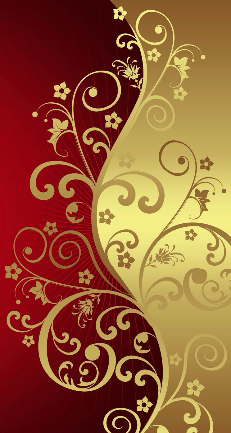 gold classical background Flower wallpaper, Iphone