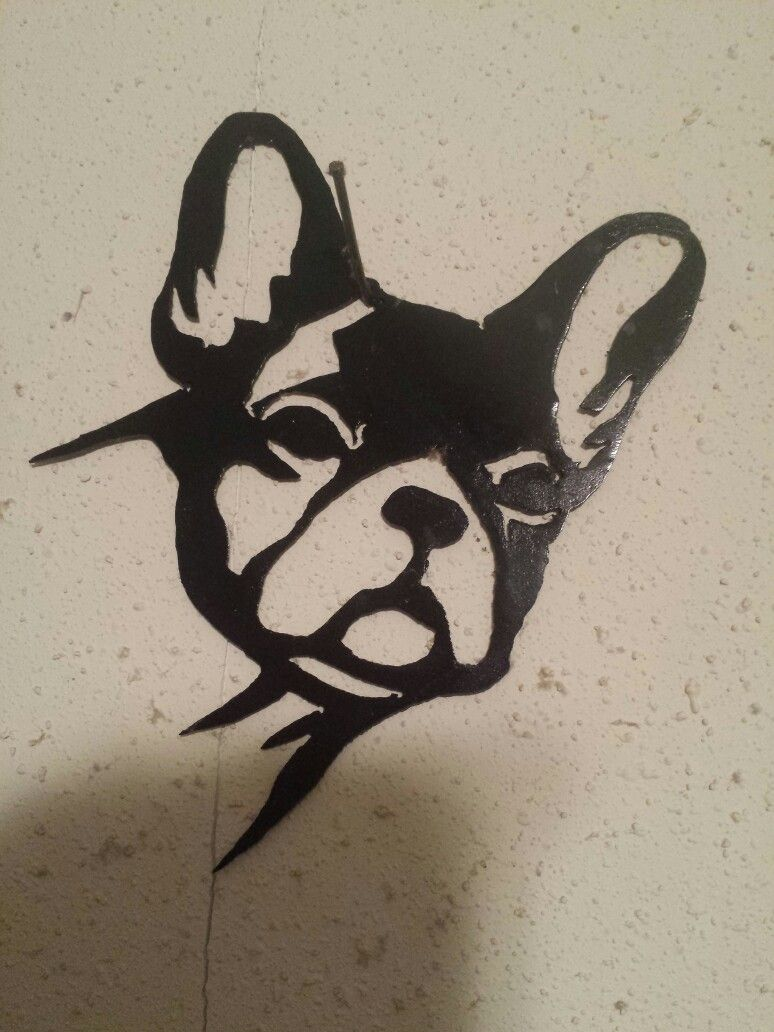 French Bulldog Metal Silhouette My Metal Art Available