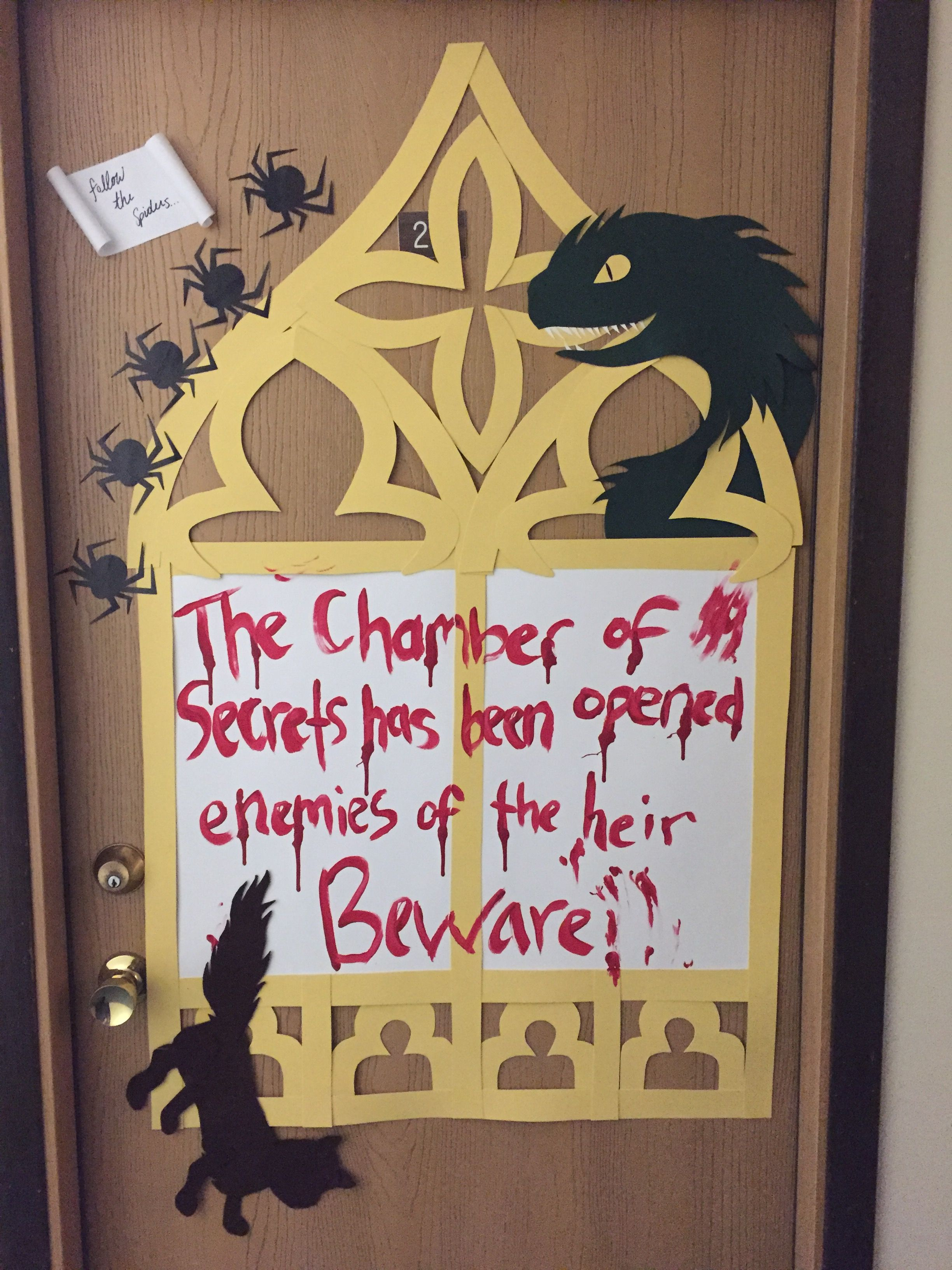Chamber of Secrets Halloween Door Decoration Completed Crafts - Halloween Door Decorations