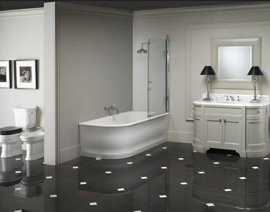 Klassische Schwarz Weiße Badezimmer Gestaltungsideen