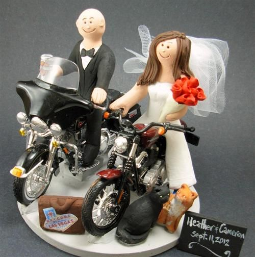 motorcycle wedding cake toppers motorcycle themed wedding cake toppers wrn http bit ly 17615