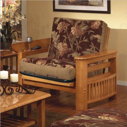 Elite Products Portofino Twin Oak Futon Chair Frame Golden By 235 95