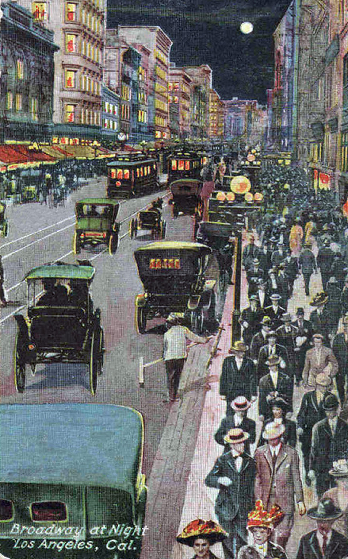 Broadway Night Circa 1912. Bizarre Los Angeles
