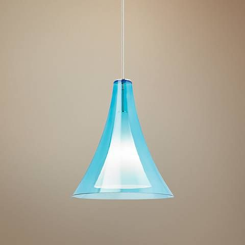 Melrose Ii Grande 16 W Aqua Blue Pendant Light