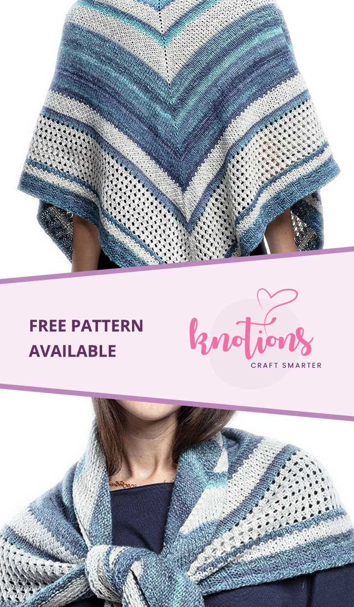 Blue Lakes Shawl | Knitting patterns free, Free knitting ...