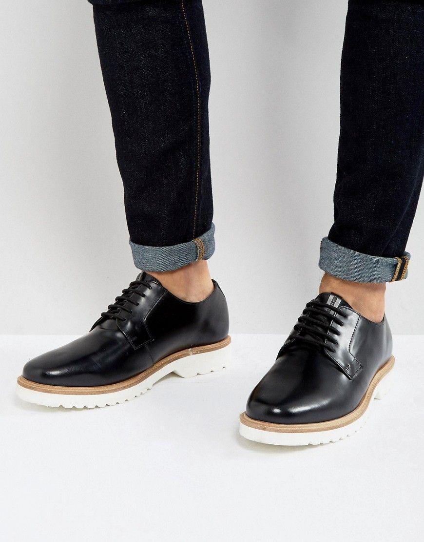 594879aa15c45 BEN SHERMAN HI SHINE DERBY SHOES - BLACK.  bensherman  shoes