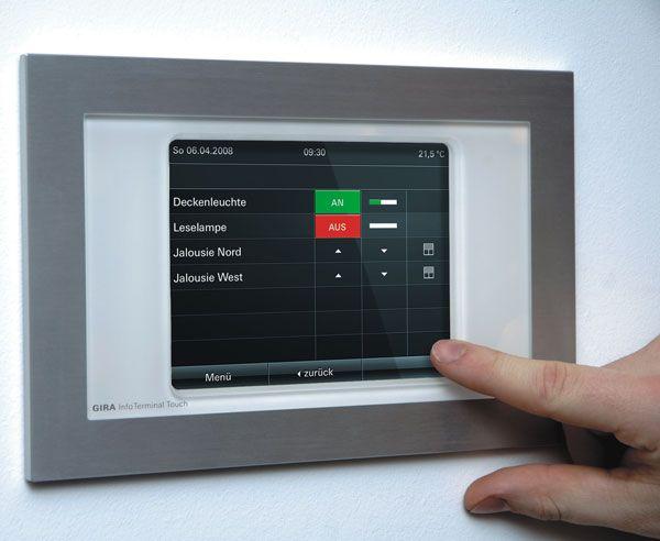 gira smart home touchscreen smart home pinterest. Black Bedroom Furniture Sets. Home Design Ideas