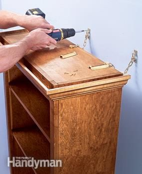 Bookcase And Shelf Tips Use Chain Latches To Secure
