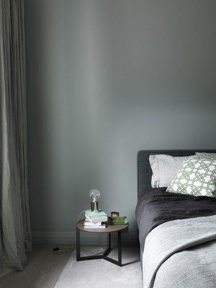Appartement met mooie grijs groene muren - Grijs, Slaapkamer en Met