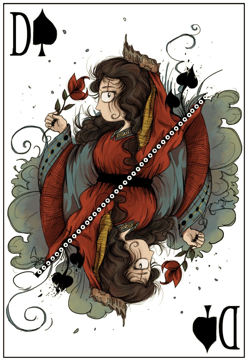 jeu de carte dame de pique Silver: La Dame de Pique   Dame de pique, Carte à jouer, Art carte