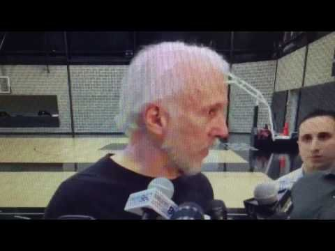 GREGG POPOVICH REACTS TO TIM DUNCAN RETIRING FROM THE SPURS