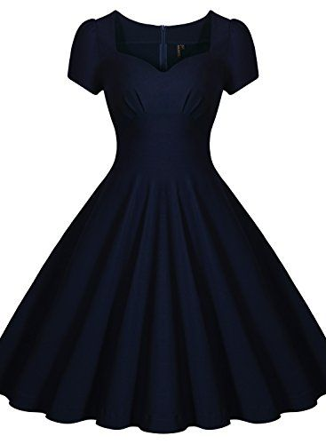 b3d00947478 Miusol® Women s Classical Retro Square Neck Cap Sleeve Bridesmaid Formal  Dress (XX-Large