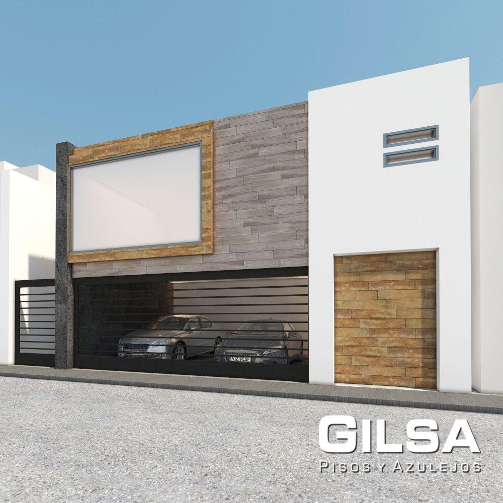 Fachada de estilo contempor neo materiales utilizados for Ceramica para fachadas exteriores