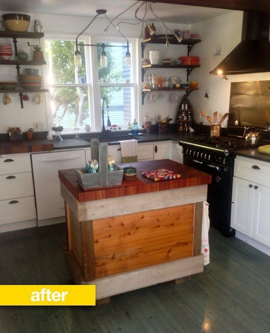 kitchen before & after: a 1970s kitchen gets open shelving and