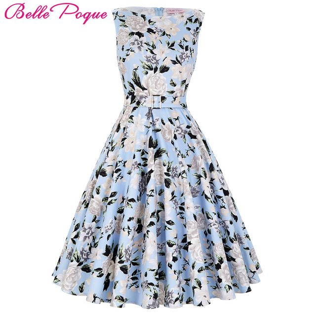 Buy now 2017 Summer Women Dress Audrey Hepburn Vestidos Sleeveless Polka Dot Floral Print Clothing Cotton 50s Casual Rockbilly Dresses just only $19.91 with free shipping worldwide  #womandresses Plese click on picture to see our special price for you