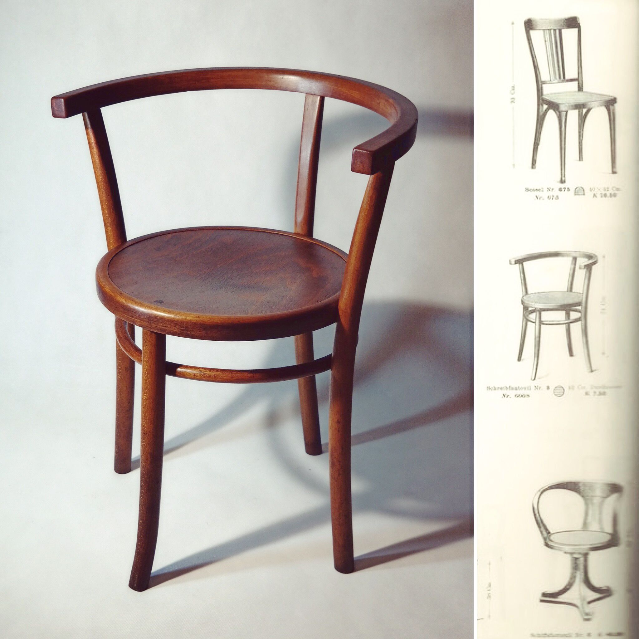 Vintage thonet style cafe chairs with stenciled seats - Thonet Old Chair 1904