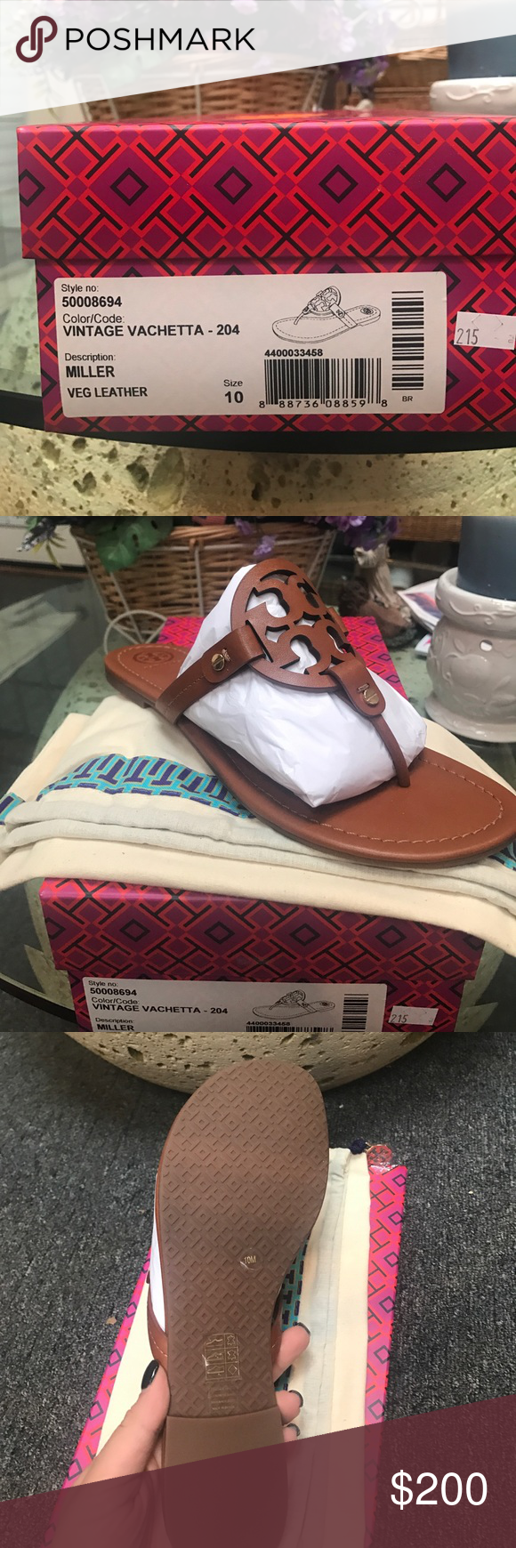 ffb6cdad8 1 pair size Brand new in box authentic! Search on vinted they are listed!  First come first serve Tory Burch Shoes Sandals