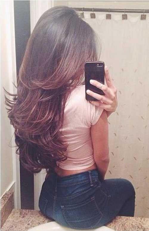 40 Beste Layered Haircuts 2015 2016 Frisuren Stil Haar Gaya Rambut Panjang Gaya Rambut Simpel Warna Rambut