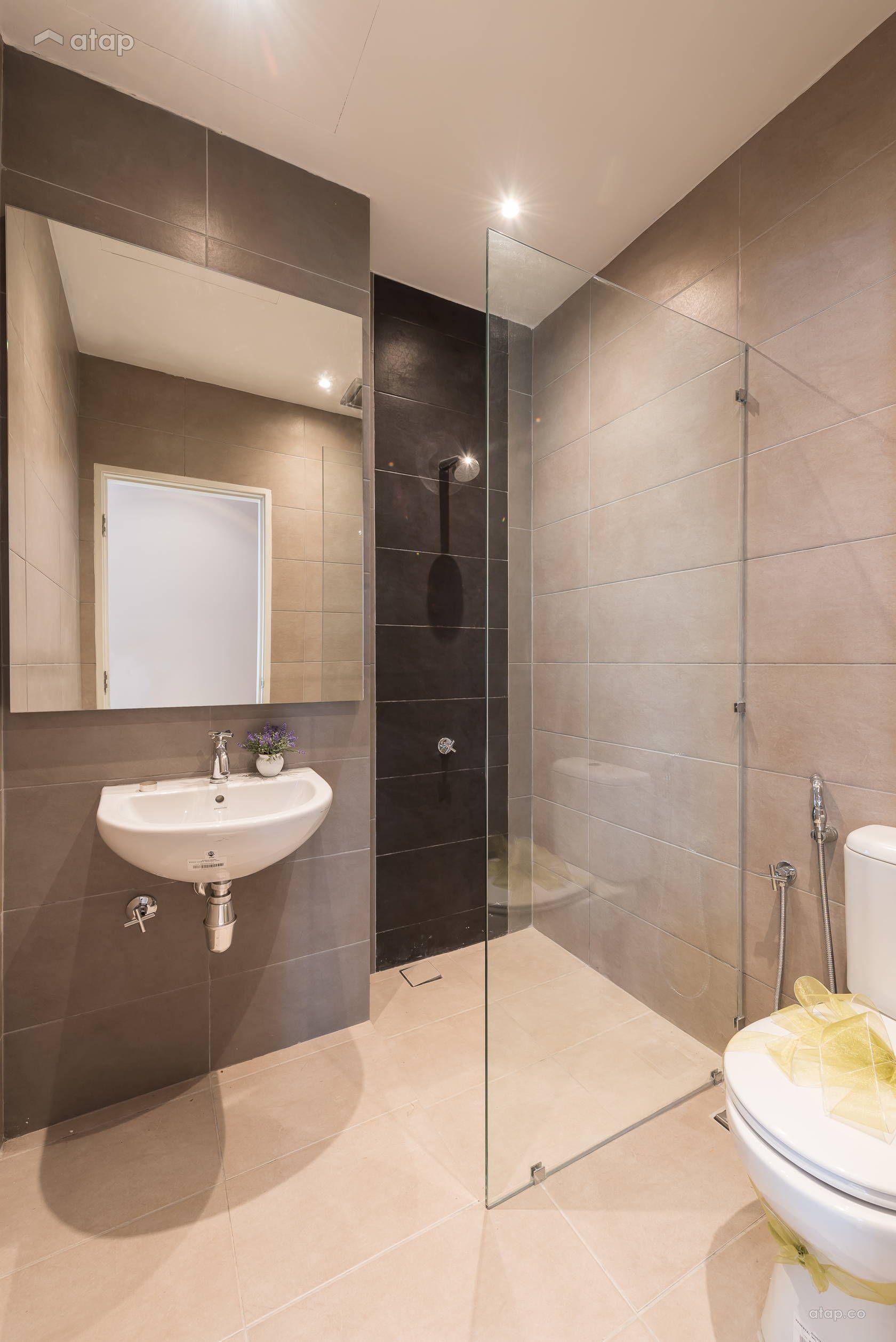 Contemporary Modern Bathroom semi-detached design ideas ...
