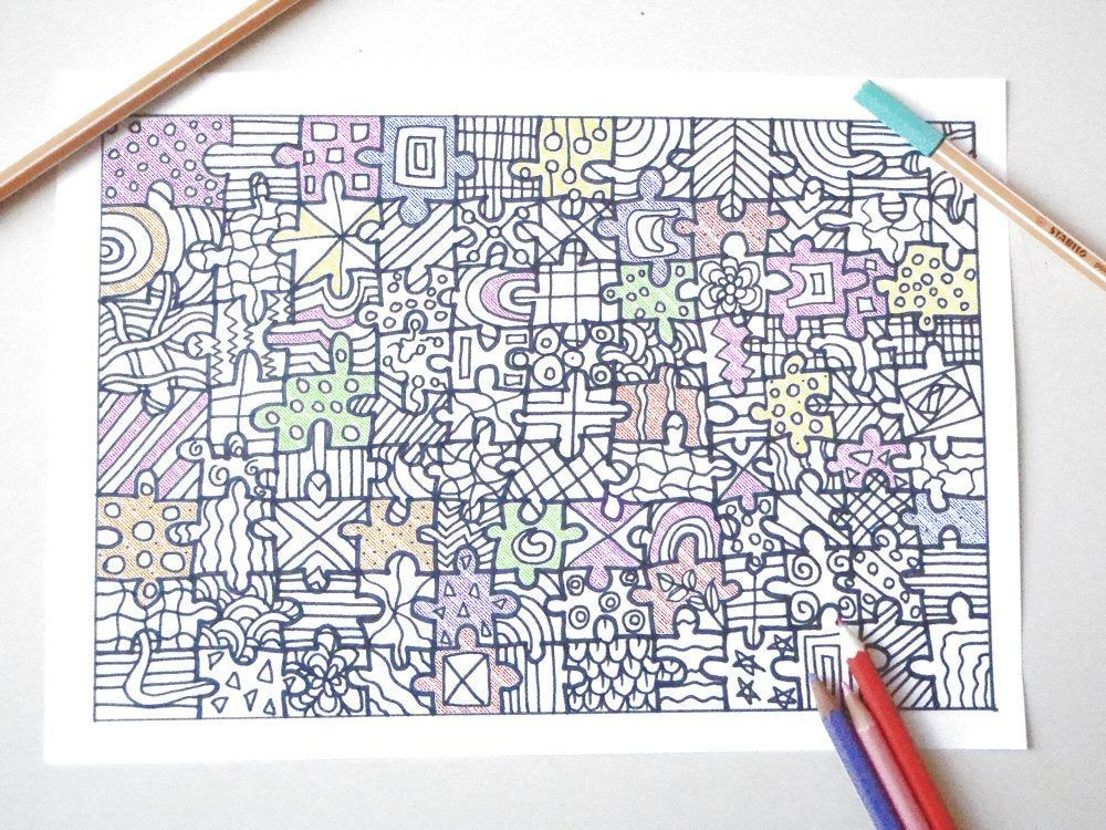 Coloring jigsaw puzzle intricate adults colouring expert