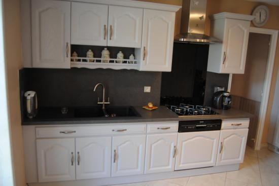 Repeindre meubles cuisine en blanc cuisine Pinterest - Repeindre Un Meuble En Chene